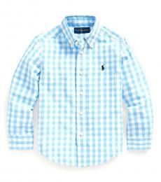Ralph Lauren Little Boys Blue Lagoon Gingham Shirt