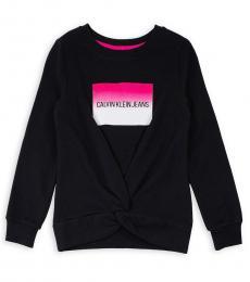 Calvin Klein Girls Black Gradient Institution Logo Sweatshirt
