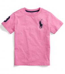 Ralph Lauren Little Boys Resort Rose Big Pony T-Shirt
