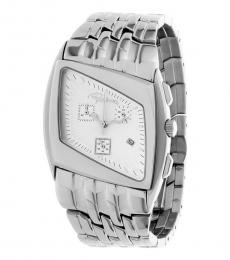Silver Parallelogram Watch