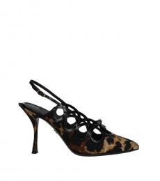 Dolce & Gabbana Brown Slingback Heels