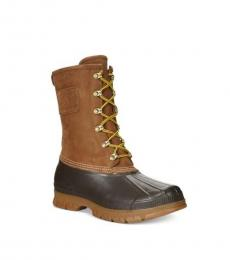 Ralph Lauren Natural Romford Leather Boots