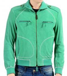 Aqua Suede Leather Jacket