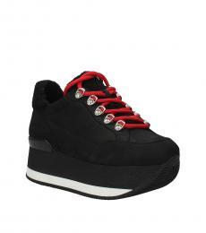 Hogan Black Suede Classic Sneakers