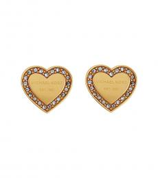 Michael Kors Gold Heritage Heart Earrings