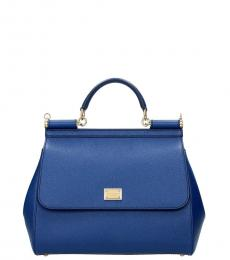 Dark Blue Sicily Small Satchel
