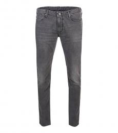 Armani Jeans Dark Grey Slim Fit Jeans