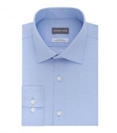 Powder Blue Slim-Fit Dress Shirt