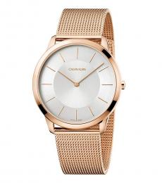 Calvin Klein Rose Gold Minimal Watch