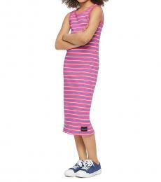 Calvin Klein Little Girls Cabaret Striped Tank Dress