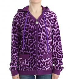 Just Cavalli Purple Zipup Hoodie