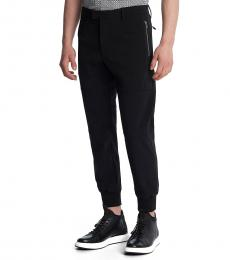 Black Zipper Joggers Pant