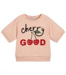 Stella McCartney Little Girls Pink Cherry Good Sweatshirt