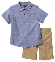 Calvin Klein 2 Piece Shirt/Shorts Set (Little Boys)