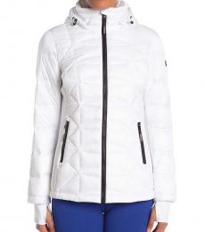 Michael Kors White Missy Puffer Jacket