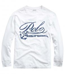 Ralph Lauren Boys White Graphic T-Shirt