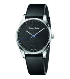 Black Steadfast Black Dial Watch