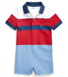 Ralph Lauren Baby Boys Sunrise Multi Striped Polo Shortall