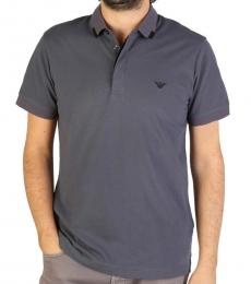 Grey Front Logo Polo