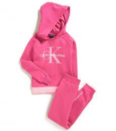 Calvin Klein 2 Piece Hoodie/Sweatpants Set (Baby Girls)