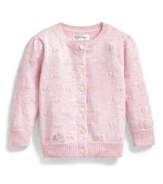 Ralph Lauren Baby Girls Pink Hearts Cardigan