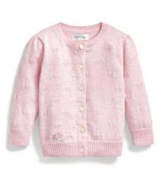 Ralph Lauren Baby Girls Pink Hearts Cardigan