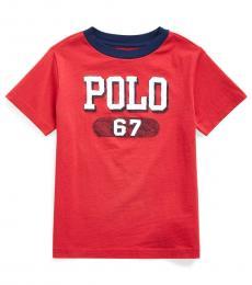 Little Boys Evening Post Red Logo T-Shirt