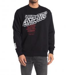 Diesel Black Marty Graphic Sweatshirt