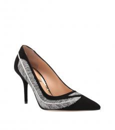 Black Emilia Feather Heels