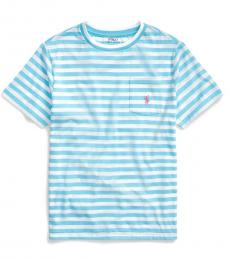 Ralph Lauren Boys Neptune Blue Striped T-Shirt