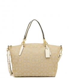 Coach Light Khaki Chalk Kelsey Medium Satchel