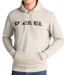 Diesel Grey Melange Agnes Chisel Hoodie