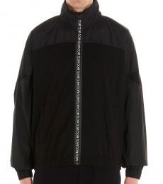 Black Logo zipper jacket