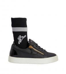 Giuseppe Zanotti Black Zip Sock Sneakers
