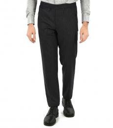Dark Grey Pinstriped Active Pants