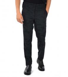 Navy Blue Camouflage Tuxedo Pants