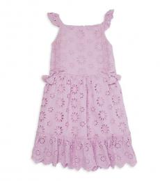 BCBGirls Little Girls Orchid Eyelet Flutter-Sleeve Dress