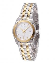 Burberry Silver Dual Tone Watch