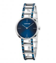 Silver Cheers Blue Dial Watch