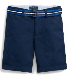 Ralph Lauren Little Boys Navy Slim Fit Belted Chino Shorts