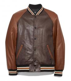 Mahogany Dark Fawn Leather Jacket