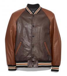Coach Mahogany Dark Fawn Leather Jacket