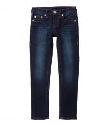 True Religion Girls Checkers Wash Single End Jeans