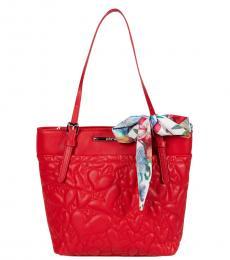 Betsey Johnson Red XO Aaliya Shopper Medium Tote