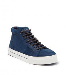 Ted Baker Dark Blue Perick Mid Sneakers