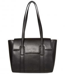 Karl Lagerfeld Black/Silver Cassandra Large Tote