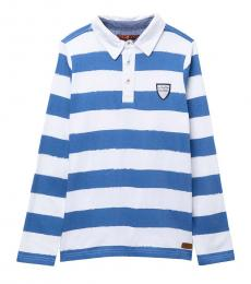 7 For All Mankind Boys Blue Rugby Polo