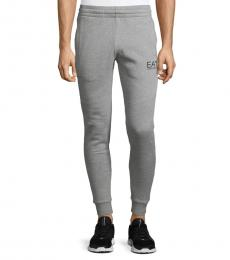 Emporio Armani Grey Cotton Jogger Pants
