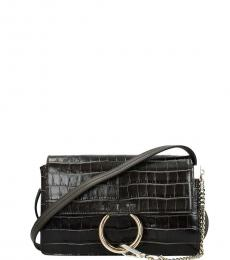 Chloe Dark Grey Faye Small Crossbody
