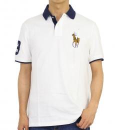 Ralph Lauren White Classic Fit Mesh Polo